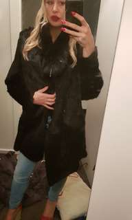 Scanlon and Theodore rabbit fur coat