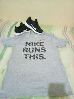 Bundle NIKE running shirt and shoes