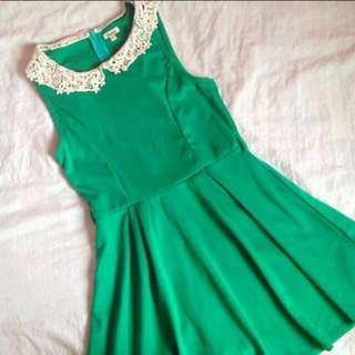 Brands Outlet Green Sleeveless Skater Dress
