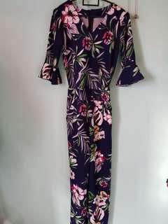 Long floral jumpsuit