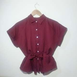 New Maroon Blouse
