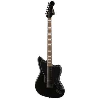 Squier Deluxe Baritone Jazzmaster Electric Guitar, Transparent Black