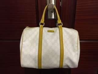 LV 黃色白色 手挽袋 yellow white handbag