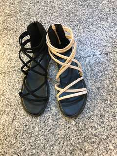 #女款羅馬平底涼鞋來囉 2色36.37.38.39.40 限量特價$290/現貨