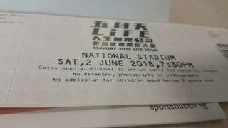 Mayday concert tickets Cat 2 !
