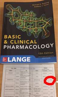 Basic and Clinical Pharmacology 13th Ed. By Katzung