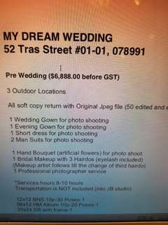 Wedding Package to let go