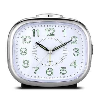 7. Power Non Ticking Desk Bedside Alarm Clock