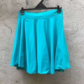 Blue Green Skater Skirt