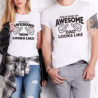Mom and Dad Awesome Parents Tee