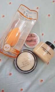 Make up Bundle! Miracle Sponge, Essence Blush,Revolution Luxury Powder and Baked highligter