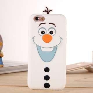~手機殼IPhone6/7/8/plus/X : 小雪立體全包邊軟殼