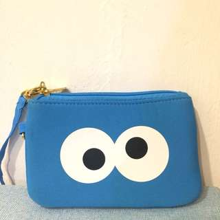 Cookie monster pouch