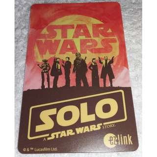 Star Wars Ezlink Card - Solo : A Star Wars Story Ezlink Card