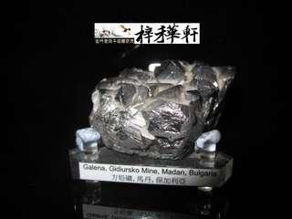 【原礦】天然金屬方鉛礦晶體標本