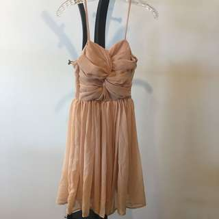 Style Staple spaghetti strap pink chiffon dress