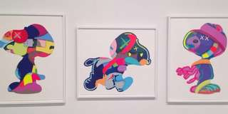 KAWS (Set of 3 Silkscreen prints) 2015 limited edition edition