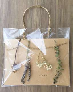 Personalised Dried Flowers Greeting Card - Hanging Botanical Series B