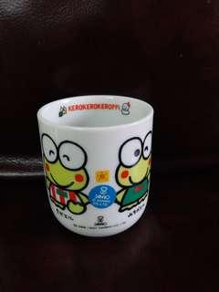 Keroppi青蛙仔日本絕版1990年陶瓷杯