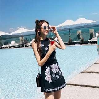 Floral Dress Swim Suit