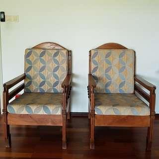 Antique Sumatran Teakwood chairs