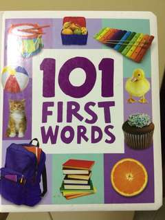 101 First Words Young children's Books