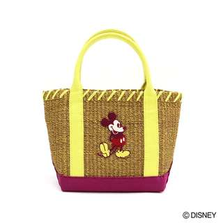 Japan Disney Accommode Mickey Mouse Camel Abaca × Canvas Tote Bag M