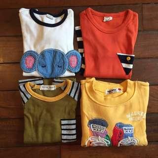 韓國款彈性長袖衫合4-6歲$20up