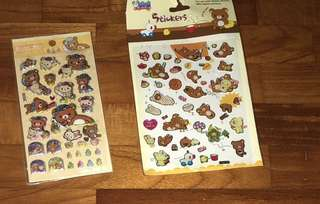Scrapbook stickers ( Rilakkuma )