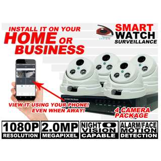 CCTV HD TVI Camera Package for Indoor with Alloy Housing and LED Array Night Vision