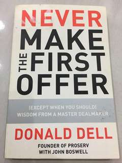 Never Make The First Offer [Free Post]