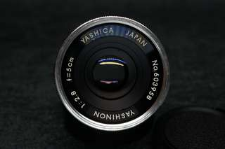 rare early yashica 5cm(50mm) f2.8 m42 mount yashinon vintage camera lens tested working