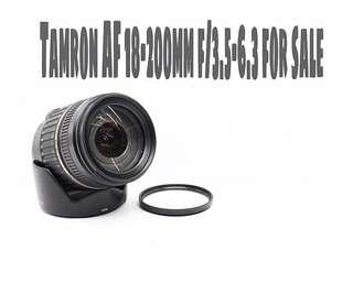 Tamron AF 18-200mm f/3.5-6.3 zoom lens (Canon Mount)