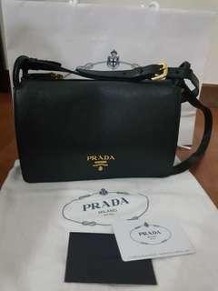 Prada Vitello Daino Leather Crossbody Sling Bag
