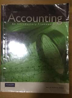 Accounting An Introductory Framework
