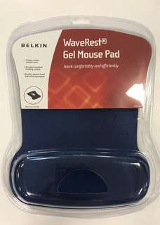 Belkin WaveRest Ergonomic Gel Mouse Pad with Wrist Support (Blue)