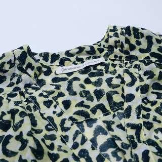 Stradivarius leopard shirt