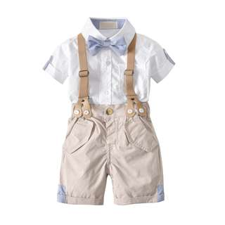 ☑️ INSTOCKS 4-Piece Top and Bottom with Adjustable Suspender and Bow Ties Set B10211A
