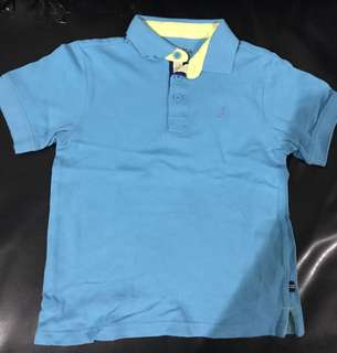 Nautica blue polo shirt for 4 years old