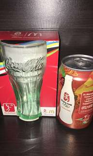 Coca Cola Olympic Games BEIJING 2008 Glass+Can-Drink