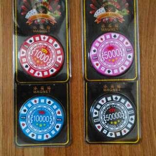 Macau Casino Chip Ref/ Fridge Magnet