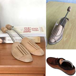 Wooden Shoes Stretcher Tree Wood Stainless Steel Metal Spring Professional Shape Keeper