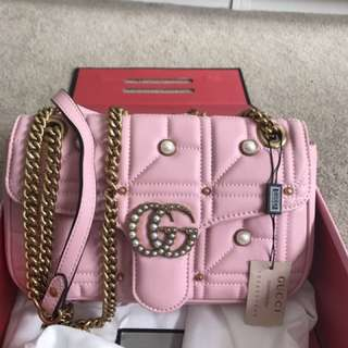 Pink Gucci bag