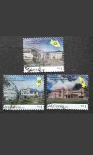 Malaysia 2011 Royal Palaces Loose Set - 3v Used Stamps