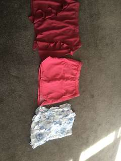 Bulk skirts and tops various sizes small to medium