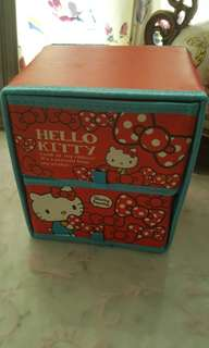 Hello Kitty Table Top Two Storage Drawer