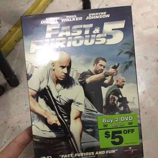Fast And Furious 5 DVD Brand New