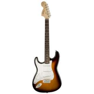 Squier Affinity Stratocaster Left Handed Electric Guitar, Rosewood FB, Sunburst
