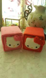 Hello Kitty Red & Pink Cubic Boxes