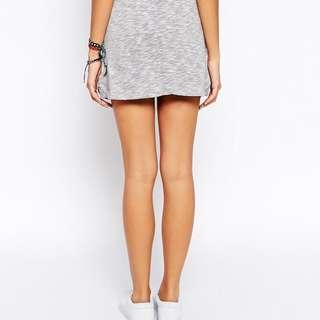 Women Grey Cotton Skirt Pants Culottes Sports